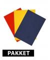 Voordeelpakket A4 karton primaire kleuren 6x