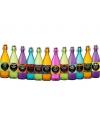 Decoratie flessen met etiketten 12 stuks