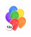 Gekleurde feestballonnen 12 stuks