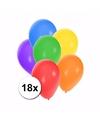 Gekleurde feestballonnen 18 stuks