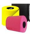 Gekleurd toiletpapier fuchsia, geel en zwart