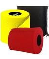 Gekleurd toiletpapier rood, geel en zwart